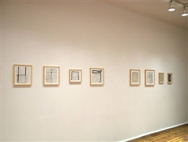 installation view of <b>robin miller</b> drawings (checklist 29. - 37.)<br>[right-left]